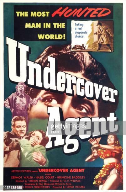 Undercover Agent poster US poster bottom left Dermot Walsh Hazel Court 1953