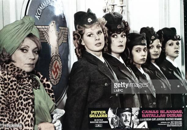 Undercovers Hero lobbycard 9aka CAMAS BLANDAS BATALLAS DURAS from left Lila Kedrova Jenny Hanley Gabriella Licudi Beatrice Romand Francoise Pascal...