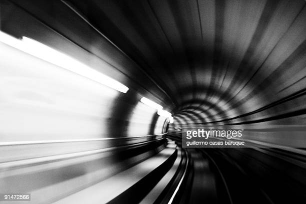undergraund tunnel at high speed - slow motion stock pictures, royalty-free photos & images