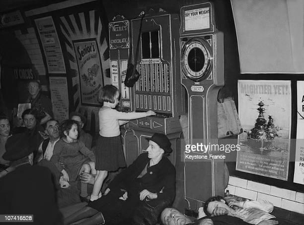 Underground Air Raid Shelter In London During World War Ii