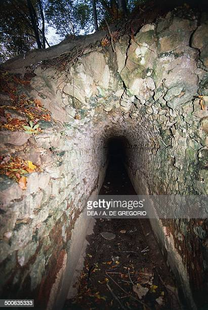 Underground aqueduct SchonbuhlAugst Canton of Basel Switzerland Roman civilisation 2nd century BC