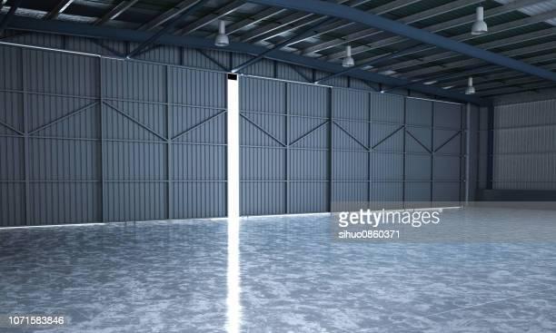 Underjordiska svartvita show-room