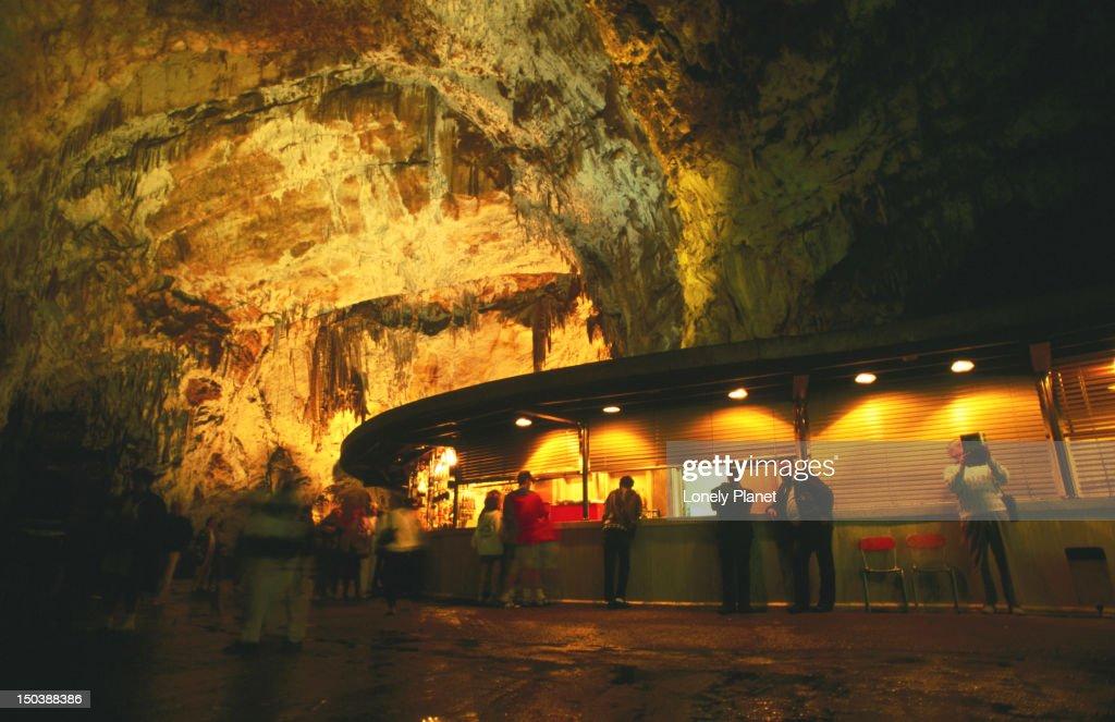 Underground cafe. : Stock Photo