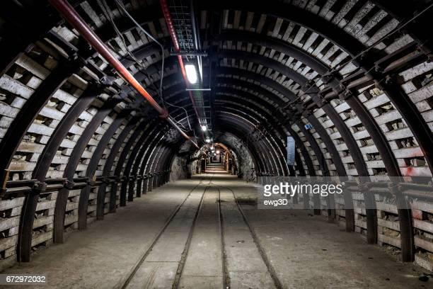 Underground corridor with steel support system