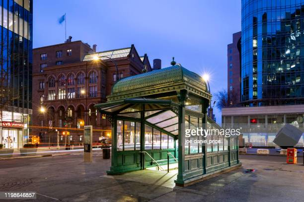 underground entrance. astor place, new york city, new york, america - east village stock pictures, royalty-free photos & images