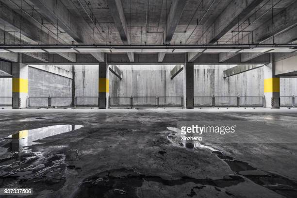 underground garage - wet stock pictures, royalty-free photos & images