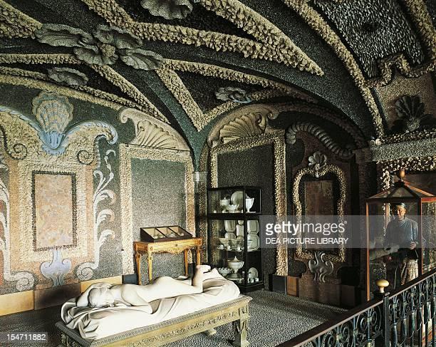 Underground grotto Borromeo Palace Isola Bella Borromean Islands Italy 17th century