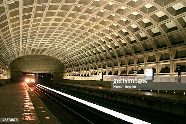 Underground Metro Subway station and train, Washington DC, USA