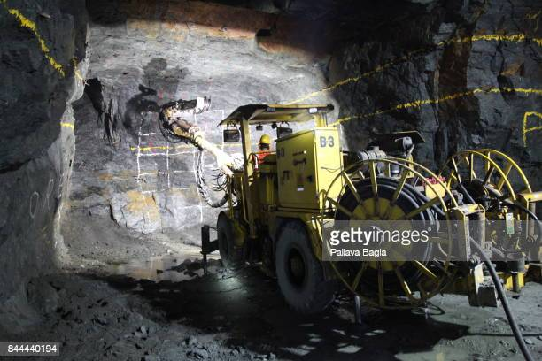 Underground mining operations using sophisticated automatic driliing machines. Uranium mining in India. Inside Indias highly secure and rarely...