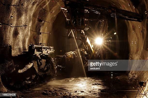 underground mining website - baumaschine stock-fotos und bilder