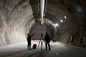 Underground mining workers