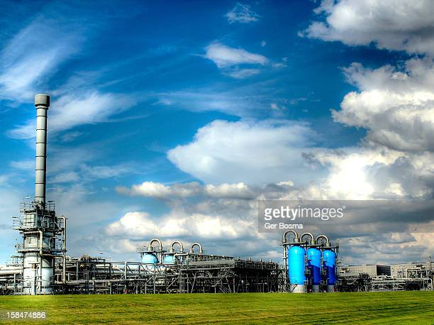 underground natural gas storage - gas refinery stock photos and pictures