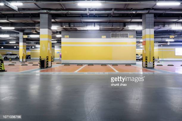 underground parking lot - car park stock pictures, royalty-free photos & images