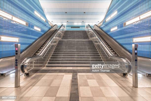 Underground Station, Hamburg, Germany, Europe