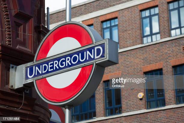 underground subway sign, london, england - underground sign stock pictures, royalty-free photos & images