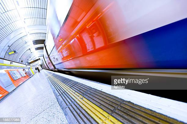 underground train in london. - underground stock photos and pictures