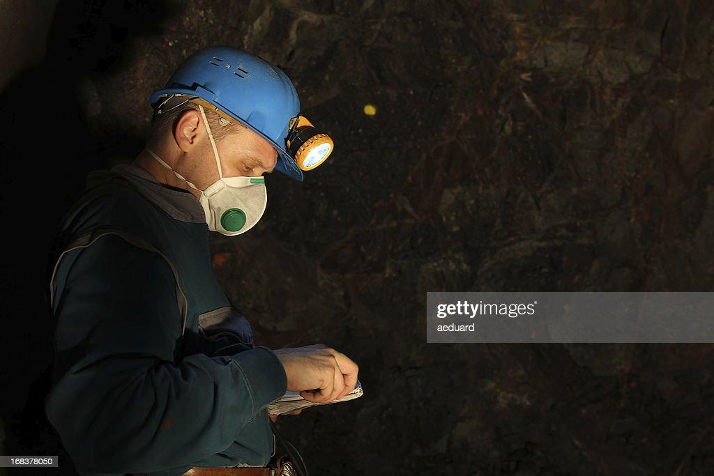 Underground worker : Stock Photo