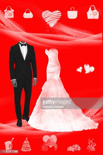 underground zine styles - abito da sposa stock pictures, royalty-free photos & images