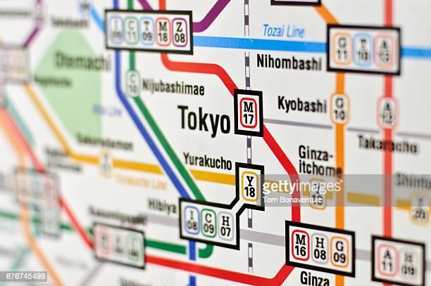 Underground/Subway map of Tokyo