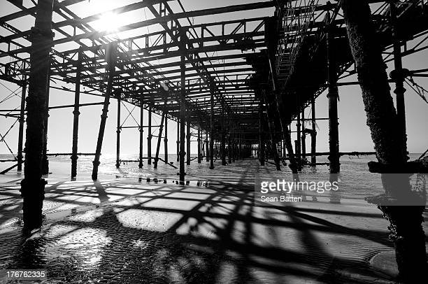 CONTENT] Underneath Hastings pier on the south coast