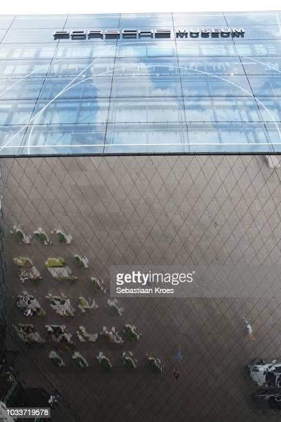 Underneath the Porsche Museum, Mirror Ceiling and Facade, Stuttgart, Germany
