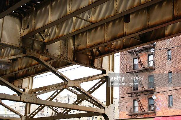underneath view of bridge in city - the bronx stock pictures, royalty-free photos & images