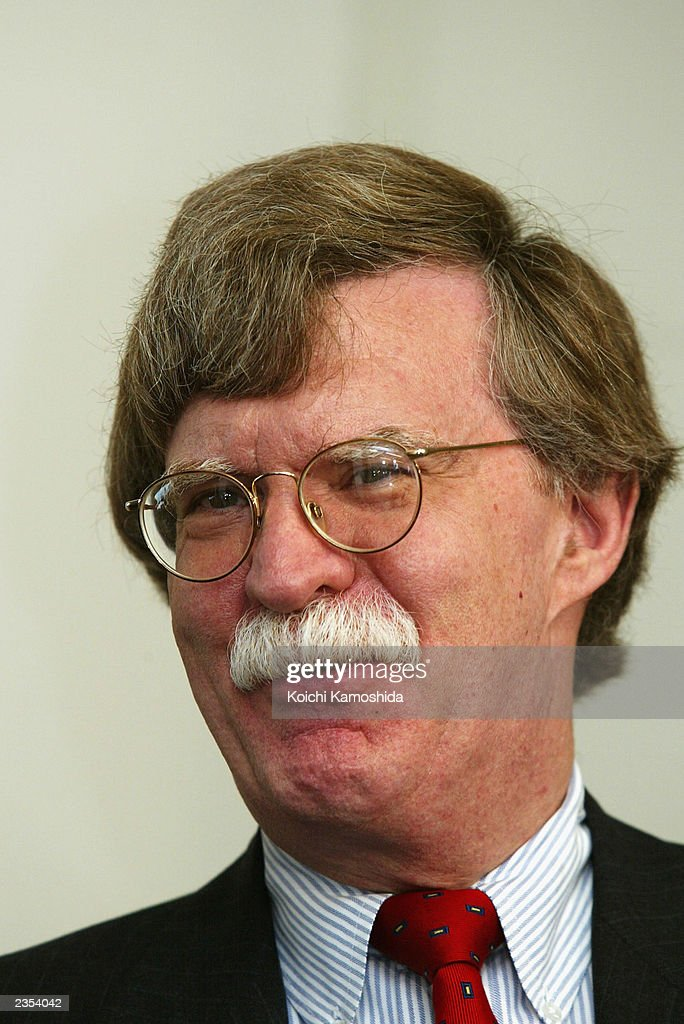 U.S. Undersecretary of State John Bolton speaks at fhe Japanese Foreign Ministry August 1, 2003 in Tokyo, Japan. Bolton is in Japan to discuss nuclear issues regarding North Korea.
