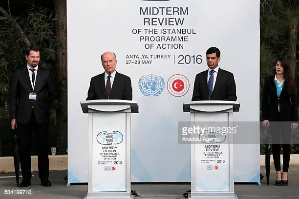 UnderSecretaryGeneral and High Representative for the LDCs Gyan Chandra Acharya and Turkey's Deputy Foreing Minister Naci Koru attend the ceremony...