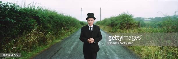 Undertaker Johnny McKeegan stands near the border between County Fermanagh and County Cavan on August 2 2018 in Enniskillen Northern Ireland McKeegan...