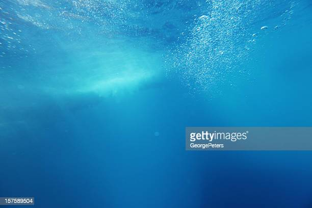 Underwater Background with Wave and Bubbles