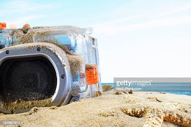 水中カメラのビーチ