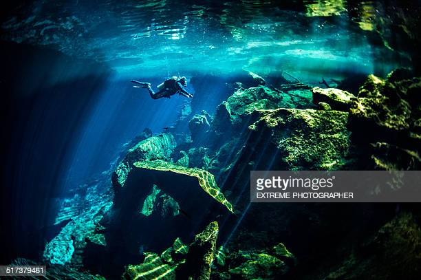 underwater cenotes - quintana roo stock pictures, royalty-free photos & images