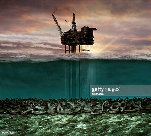 Underwater co2 oil rig