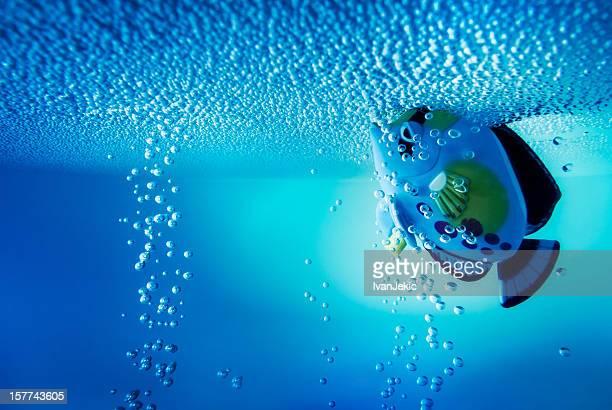 Unterwasser-Erlebnis mit einem Fisch-Spielzeug