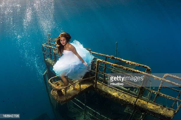 underwater girl - mermaid stock photos and pictures