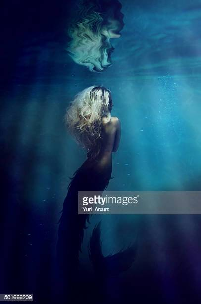 underwater goddess - mermaid stock photos and pictures