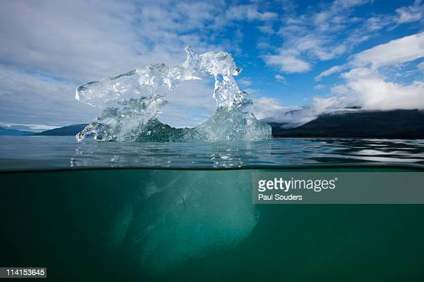 underwater iceberg, alaska - iceberg ice formation ストックフォトと画像