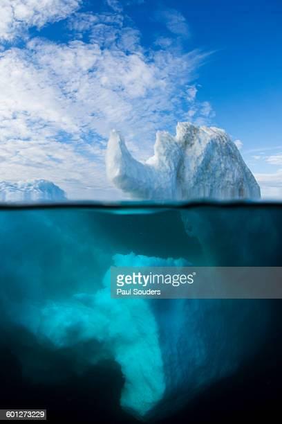 Underwater Iceberg in Wager Bay, Nunavut, Canada
