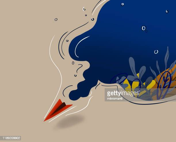underwater illustration - aquatic organism stock pictures, royalty-free photos & images