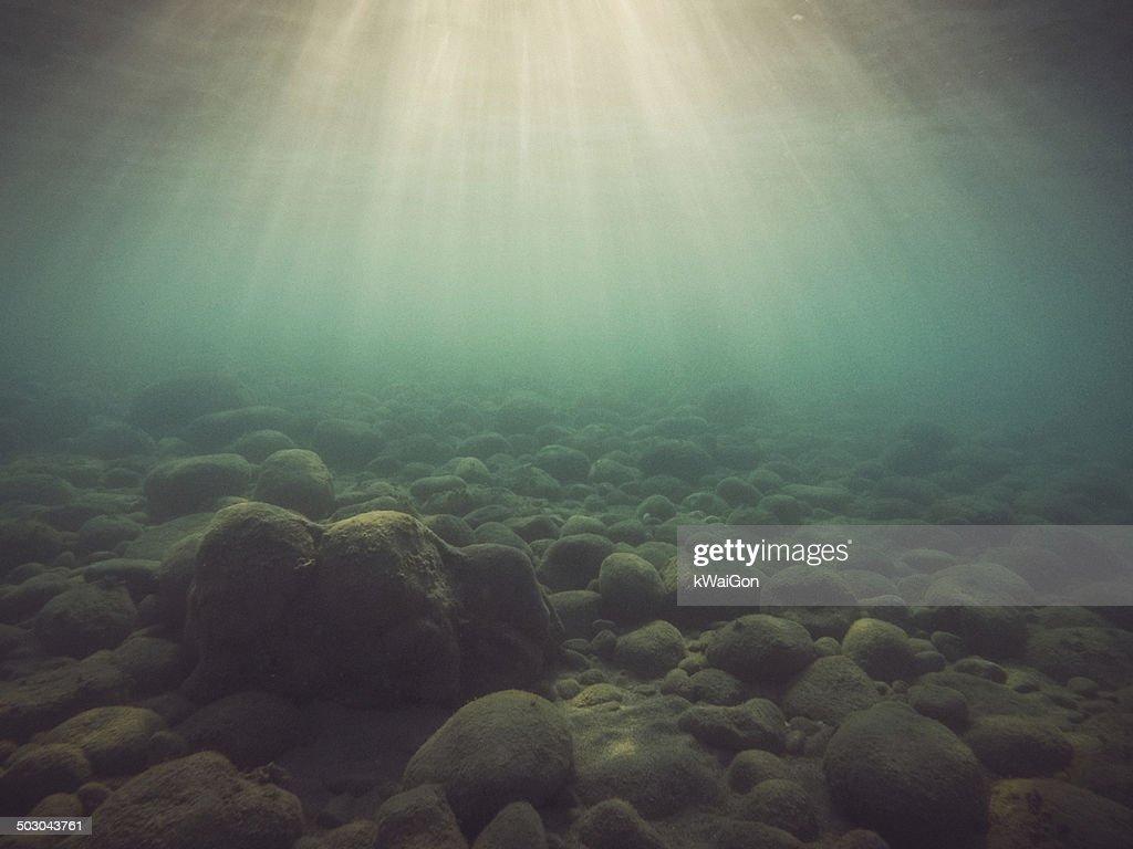 Underwater Light Rays : Stock Photo