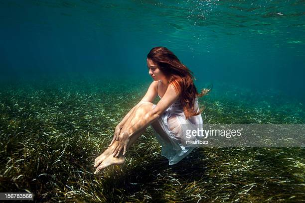 underwater - mermaid stock photos and pictures