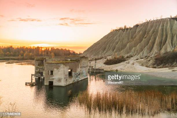 underwater prison at rummu, tallin, estonia - estonia stock pictures, royalty-free photos & images