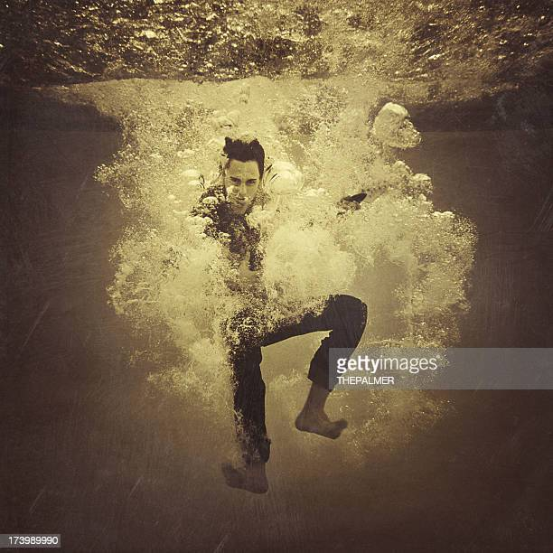 underwater rock and roll - taking the plunge stock photos and pictures