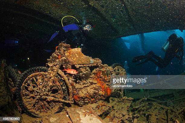 Underwater Ship Wreck Diving  SS Thistlegorm    BSA M20 motorcycle