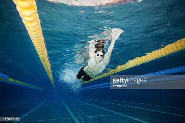 underwater shot of swimmer