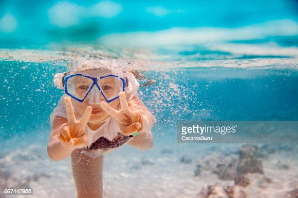 Underwater Snorkeling Adventure For Little Girl