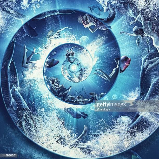 underwater spiral