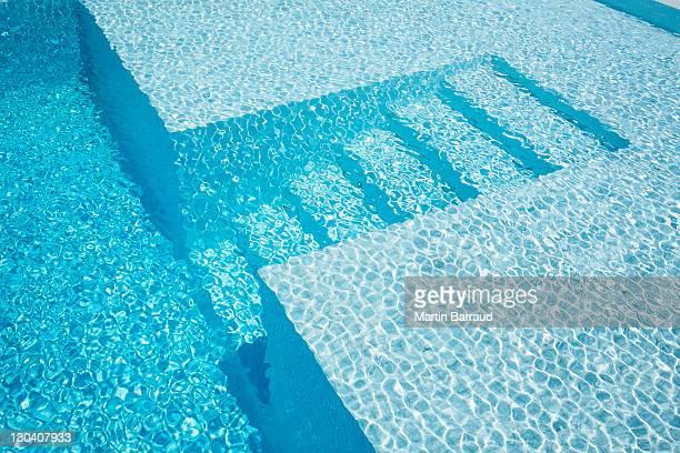 Underwater steps in pool