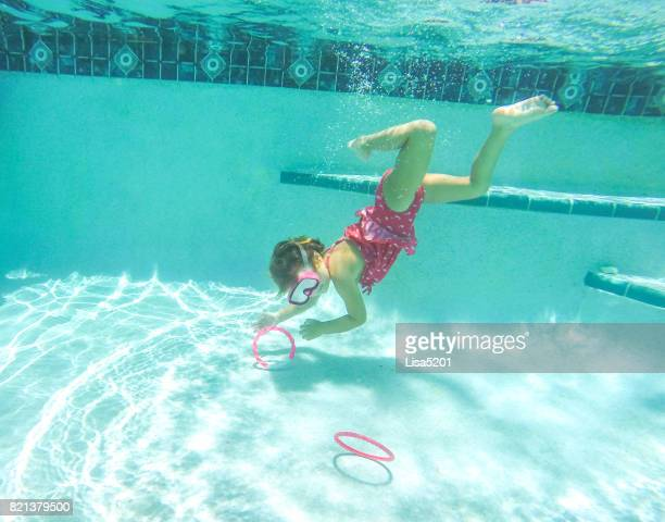 underwater summer swimmer - kids pool games stock pictures, royalty-free photos & images