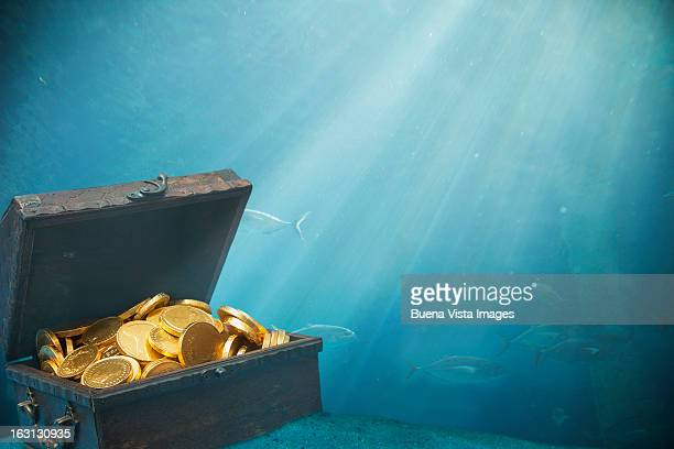Underwater sunken treasure